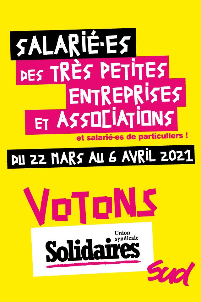 aux élections tpe-tpa, voton Solidaires